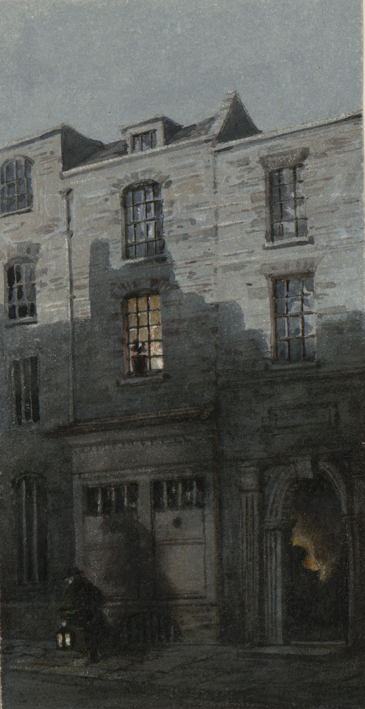 DV307 no.70 House where Turner was born, from a print