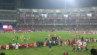 2014 Indian Super League Final - The final venue, DY Patil Stadium, before the match