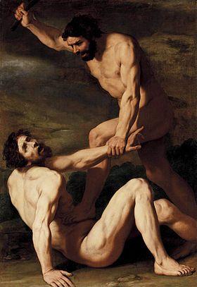 Caïn tuant Abel, réalisé par Daniele Crespi (1618-1620)