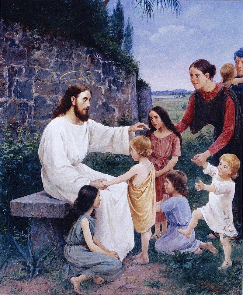 Дэниэлсон-Гамбоги, Jeesus siunaa lapsia.jpg