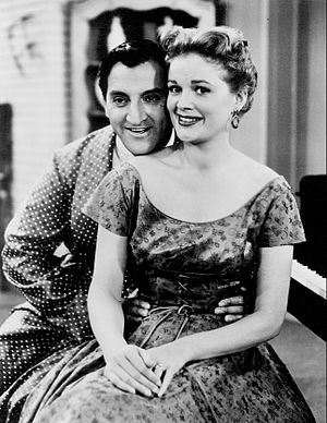 "Jean Hagen - Thomas and Hagen in ""Make Room for Daddy"", 1955"
