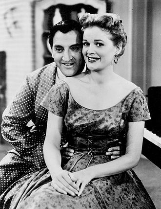 "Jean Hagen - Thomas and Hagen in ""Make Room for Daddy"", 1955"