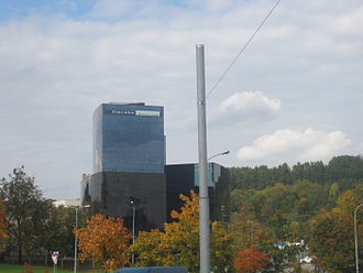 Danske Bank - Lithuania's Danske Bank headquarters in Vilnius in Lithuania