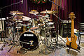 Dave Weckl's kit & Anthony Jackson's bass rig, Seattle, 2007-12-08.jpg