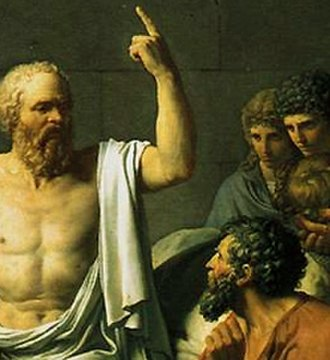 Eudaimonia - French painter David portrayed the philosopher in The Death of Socrates (1787).