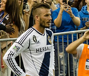 Undercut (hairstyle) - Soccer player David Beckham with a typical side parted undercut