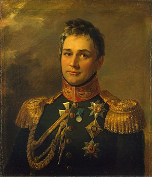 Mikhail Semyonovich Vorontsov - His portrait by George Dawe, from the Military Gallery of the Winter Palace (1825)
