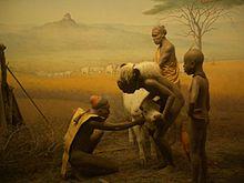Hominid Diorama Museum Of Natural History