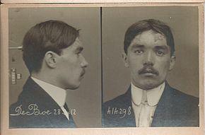 Retrato del juez Jean De Boë. La identidad judicial en 1912.