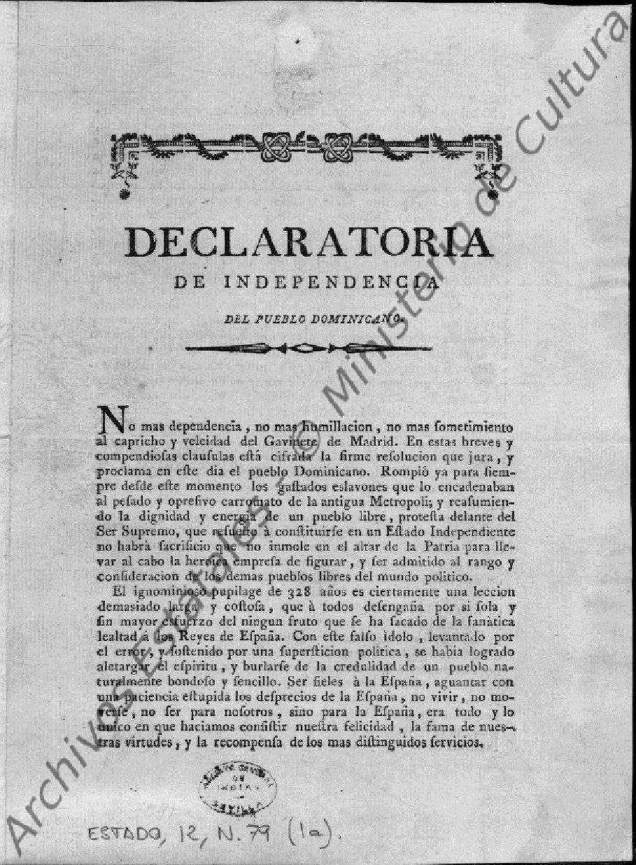 Declaratoria de Independencia de República Dominicana