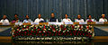 Defence Minister Arun Jaitley and other dignitaries at the foundation stone laying ceremony for the Nau Sena Bhawan.JPG