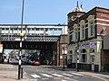 Deptford Station above Deptford High Street, SE8 - geograph.org.uk - 1503626.jpg