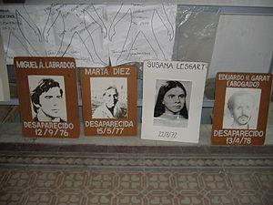 Popular center of remembrance - Image: Desaparecidos Rosario 7