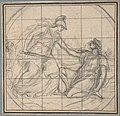 Design for a Medallion- Huntress Kneeling before an Armed Goddess MET DP807586.jpg