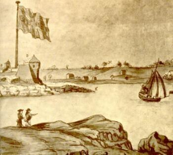 Detail of Fort William and Mary, 1705