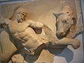 Detall de la mètopa del temple de Zeus d'Olímpia amb representació del bou de Creta (Museu Arqueològic d'Olímpia).JPG