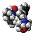 Dextromoramide molecule spacefill.png