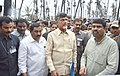 Dharmendra Pradhan alongwith the Chief Minister of Andhra Pradesh, Shri N. Chandrababu Naidu at the pipeline accident site, at Tatipaka, Andhra Pradesh on June 27, 2014 (1).jpg