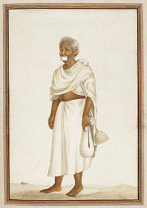 Sthānakavāsī - Dhundhiya, a Sthānakavāsī monk. Tashrih al-aqvam (1825)