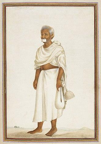 Sthānakavāsī - Dhundhiya, a Sthanakavasi monk. Tashrih al-aqvam (1825)
