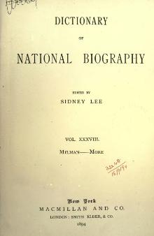 Dictionary of National Biography volume 38.djvu