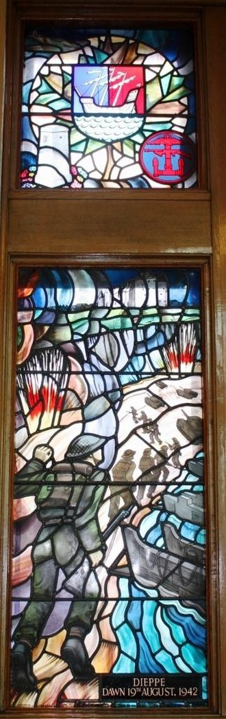 Dieppe - Dieppe Dawn 19 August 1942 memorial stained glass Royal Military College of Canada