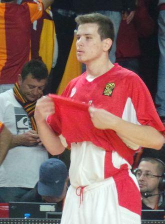 Dimitrios Agravanis - Agravanis during an Olympiacos game in 2013
