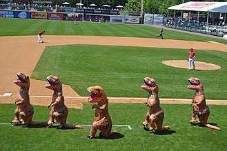 FNB Field - Dinosaur dance at FNB