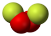 Spacefill model of dioxygen difluoride