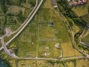 Doclea (town) - Aerial view of the Ancient city site
