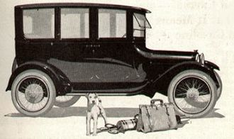 Sedan (automobile) - World's first all-steel sedan made by Budd for Dodge Bros, 1919