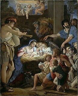 <i>Adoration of the Shepherds</i> (Domenichino) Painting by Domenichino