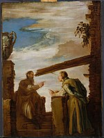 A circa 1619 painting by Domenico Fetti entitled The Parable of the Mote and the Beam