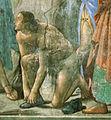 Domenico ghirlandaio, cappella Tornabuoni, dettaglio dal battesimo di cristo, forse ritratto di sebastiano mainardi.jpg