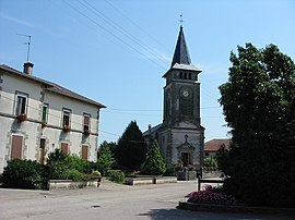 Town hall and church