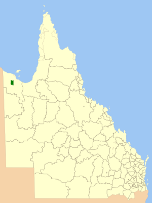 Aboriginal Shire of Doomadgee - Location within Queensland