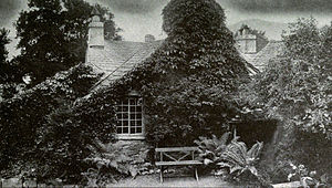 Dove Cottage - Dove Cottage from the garden, circa 1920.