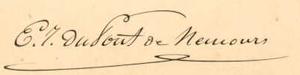 Éleuthère Irénée du Pont - Image: Du Pont signature