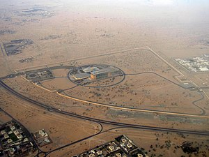 E 44 road (United Arab Emirates) - Aerial view of the highway.