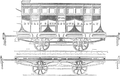 Dublin Penny Journal 1835-12-26 Dublin & Kingstown Railway Second Class Carriage by E. Heyden.png