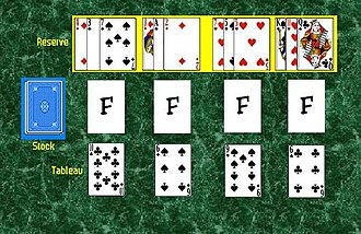 Duchess (solitaire) - The initial layout in the game of Duchess.