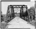 END VIEW OF BRIDGE, SHOWING SOUTH PORTAL - Bridge No. 18, Spanning Kickapoo River, La Farge, Vernon County, WI HAER WIS,62-LAFA.V,1-2.tif