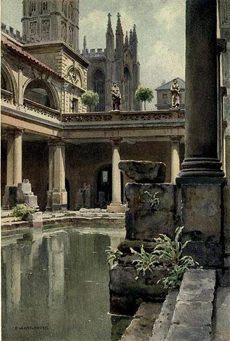 Ernest William Haslehust - The Roman Bath, Bath, Somerset (1914)