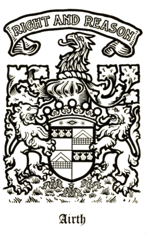 Earl of Airth - Coat of arms of the Earls of Airth (Sir James Balfour, The Scots Peerage (1904), Volume 1)