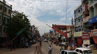 Pudukkottai City in Tamil Nadu, India