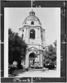 East elevation of tower and entrance - Pasadena City Hall, 100 North Garfield Avenue, Pasadena, Los Angeles County, CA HABS CAL,19-PASA,2-5.tif