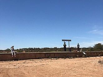 "Eba, South Australia - Railway siding with novelty ""passengers"", December 2018"
