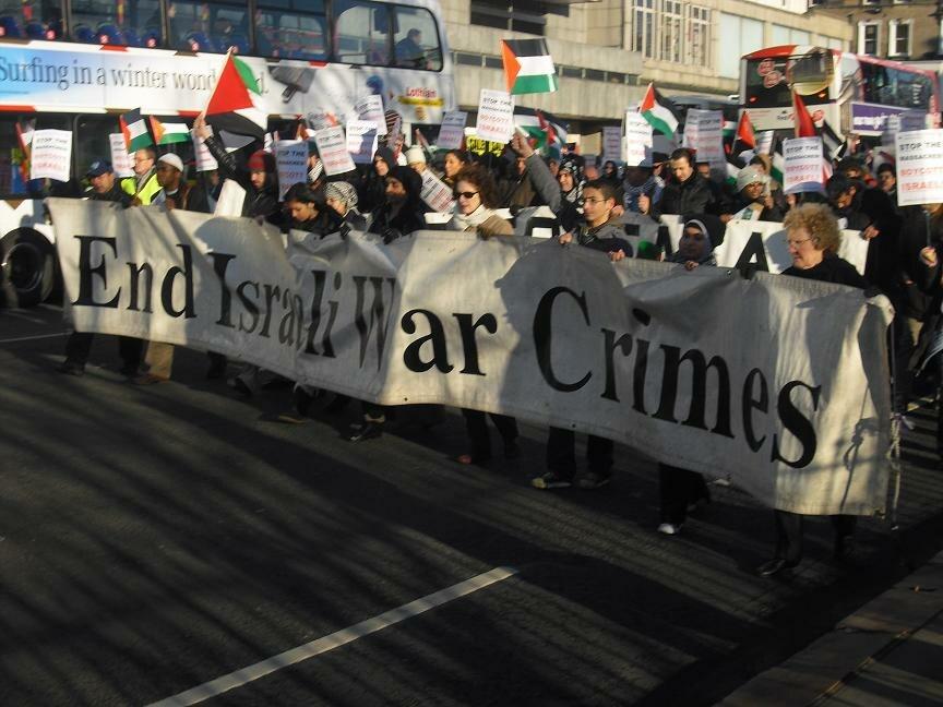 Edinburgh January protest