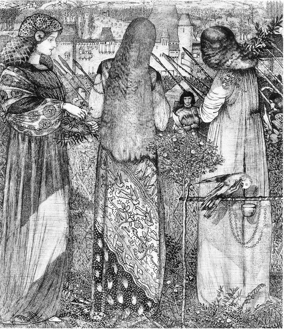 Edward Burne-Jones Going to the Battle 1858