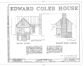 Edward Coles House, State Route 635, Greenfield, Nelson County, VA HABS VA,63-GREFI.V,1- (sheet 1 of 6).png